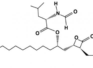 Strukturformel von Orlistat