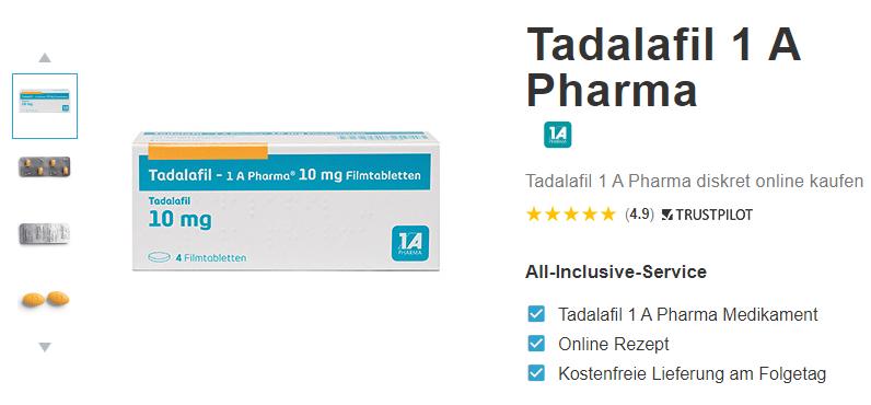 Tadalafil 1 A Pharma rezeptfrei